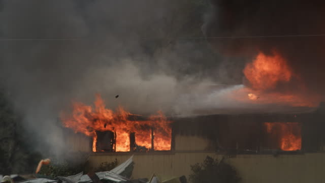 house engulfed in flames and smoke - myrtle creek stock videos & royalty-free footage
