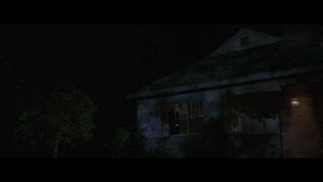 stockvideo's en b-roll-footage met ms, house exploding at night - letterbox format