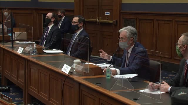 house financial services committee chair maxine waters asks treasury secretary steve mnuchin at a hearing on coronavirus and the economy if they... - lowering stock videos & royalty-free footage