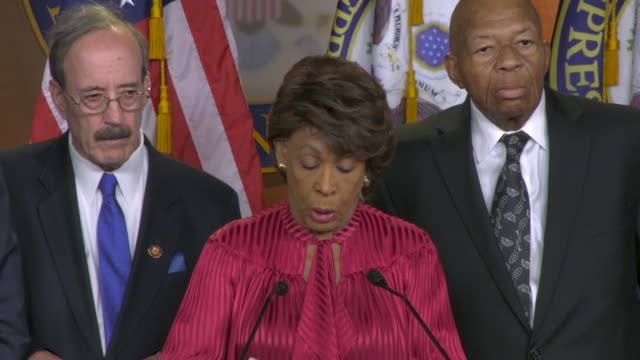 House Financial Services Committee Chair Maxine Waters of California asks at a news conference after legislation was passed allowing committee chairs...