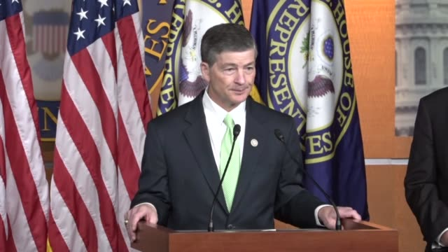 House Financial Services Committee Chairman Jeb Hensarling of Texas takes questions from reporters at a news conference to critique a Consumer...