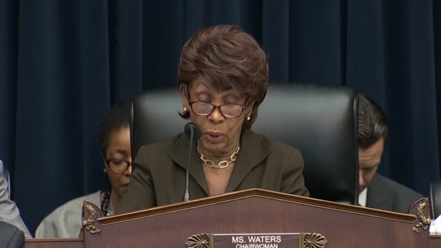 house financial services committee chairwoman maxine waters of california says at a hearing with federal reserve chairman jerome powell that... - federal reserve stock videos & royalty-free footage