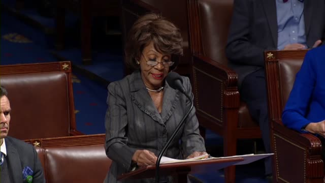 house financial services committee chairwoman maxine waters of california says on a bill that limited information made public about companies... - outsourcing video stock e b–roll