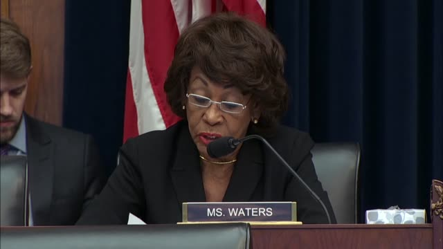 house financial services committee ranking democrat maxine waters of california says at a semiannual hearing with federal reserve chair jerome powell... - budget stock-videos und b-roll-filmmaterial