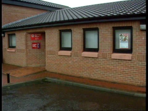 House fire Strathclyde GV Local fire station which is being used as a temporary mortuary GV Ditto
