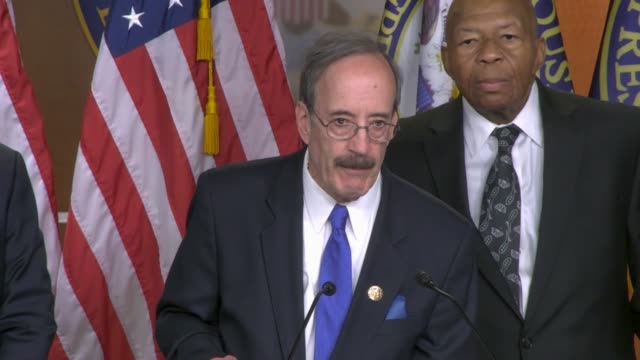 house foreign affairs committee chairman eliot engel of new york says at a news conference after legislation was passed allowing committee chairs to... - präsident der usa stock-videos und b-roll-filmmaterial