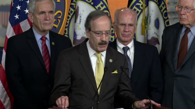 House Foreign Affairs Committee ranking Democrat Eliot Engel of New York says at a press briefing days after President Donald Trump withdrew the...
