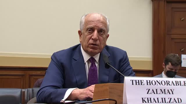 house foreign affairs committee ranking member michael mccaul and special representative for afghanistan reconciliation zalmay khalilzad discuss if... - bagram stock videos & royalty-free footage