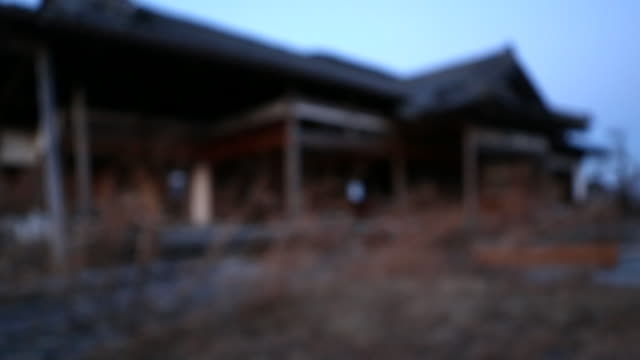 stockvideo's en b-roll-footage met a house in japan damaged by an earthquake - aardbeving