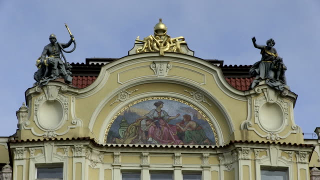 ms house in old town square / prague, hlavni mesto praha, czech republic - stare mesto stock videos and b-roll footage