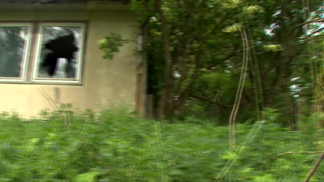 """house in saxony-anhalt believed to have been the former residence of 'christian b', the chief suspect in the disappearance of madeleine mccann - """"bbc news"""" stock-videos und b-roll-filmmaterial"""