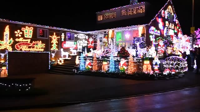 house in soham, near ely in cambridgeshire has turned the christmas lights on early to spread a little cheer during the four week national lockdown... - fairy lights stock videos & royalty-free footage