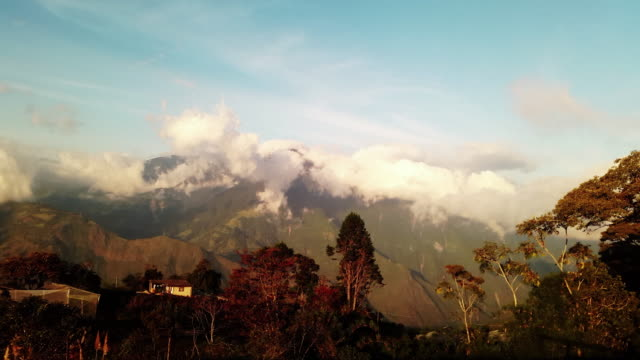 house in the mountains timelapse ecuador in baños - treehouse stock videos & royalty-free footage