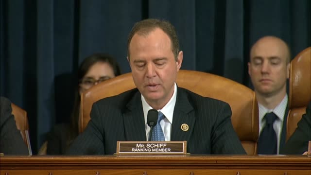 house intelligence committee member adam schiff asks if it was a coincidence that michael flynn would lie about that conversation with russian... - 制裁点の映像素材/bロール