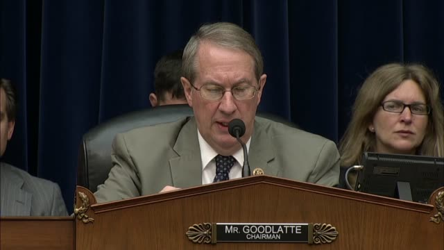 house judiciary committee chairman bob goodlatte asks fbi director james comey at an oversight hearing about referral on the veracity of hillary... - court hearing stock videos & royalty-free footage