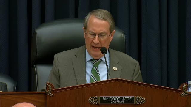 stockvideo's en b-roll-footage met house judiciary committee chairman bob goodlatte of virginia at a hearing with fbi deputy assistant director peter strzok says that former fbi... - voormalig