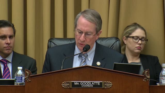 house judiciary committee chairman bob goodlatte of virginia engages fbi director christopher wray over the criminal intent standard the changing of... - christopher a. wray stock videos & royalty-free footage