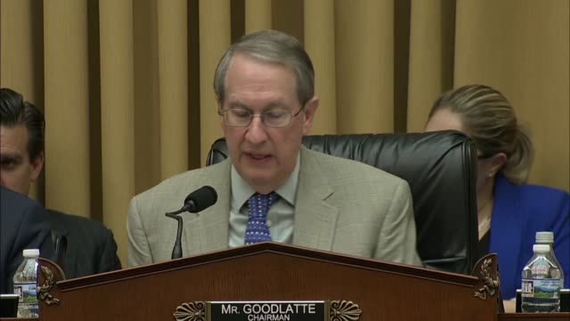 house judiciary committee chairman bob goodlatte of virginia says at a hearing to review a supreme court decision in north dakota versus wayfair... - virginia stato usa video stock e b–roll