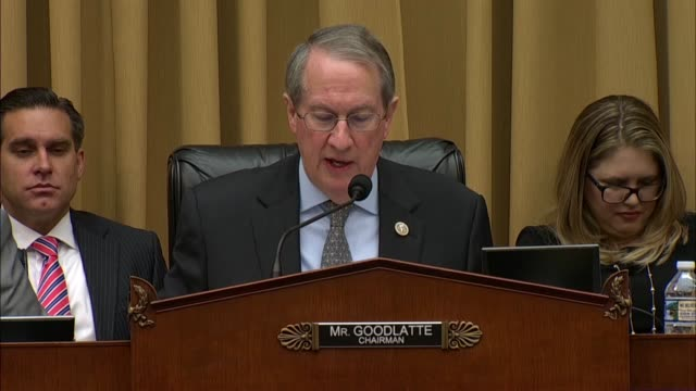 house judiciary committee chairman bob goodlatte of virginia says at a hearing on google data practices that with americans carrying smart phones all... - national security agency usa stock videos and b-roll footage