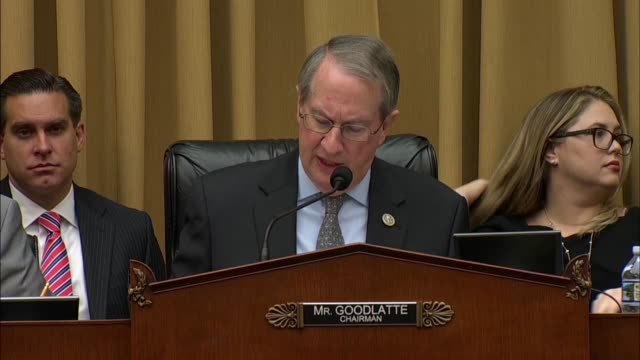 House Judiciary Committee Chairman Bob Goodlatte of Virginia says at a hearing on Google data practices that since its ads show up on nonGoogle...