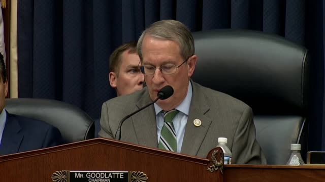 stockvideo's en b-roll-footage met house judiciary committee chairman bob goodlatte says at the end of a hearing with fbi deputy assistant director peter strzok that calling the... - amerikaanse presidentsverkiezingen