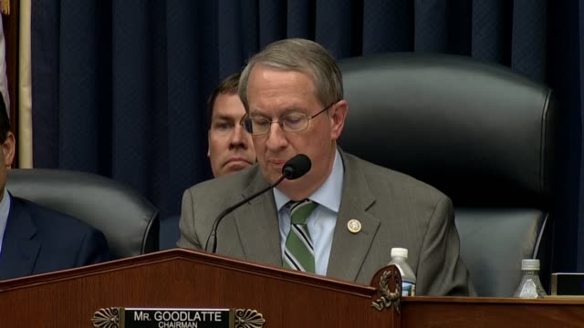 house judiciary committee chairman bob goodlatte tells fbi deputy assistant director peter strzok at the end of ahearing that the american people had... - sander stock videos & royalty-free footage