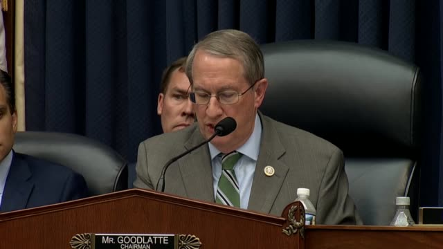 house judiciary committee chairman bob goodlatte tells fbi deputy assistant director peter strzok at the end of ahearing that the fbi has a component... - department of justice stock videos & royalty-free footage