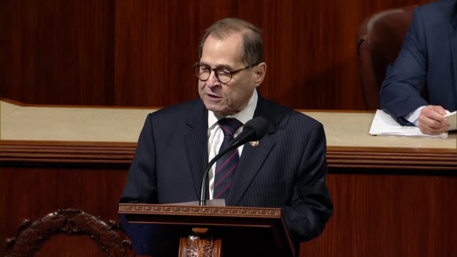 house judiciary committee chairman jerry nadler of new york says in debate on a resolution setting up procedures for continued committee impeachment... - political action committee bildbanksvideor och videomaterial från bakom kulisserna