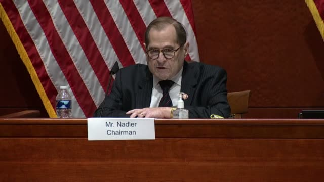house judiciary committee chairman jerry nadler says in an opening statement at an oversight hearing with attorney general bill barr that the nation... - attorney general stock videos & royalty-free footage