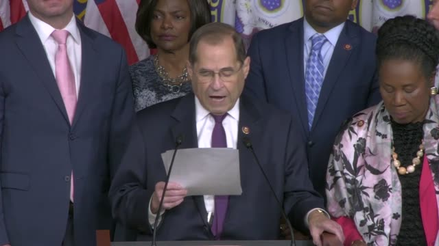 house judiciary committee chairman jerry nadler tells reporters at a news conference two days after public testimony by former special counsel robert... - climate policy stock videos & royalty-free footage
