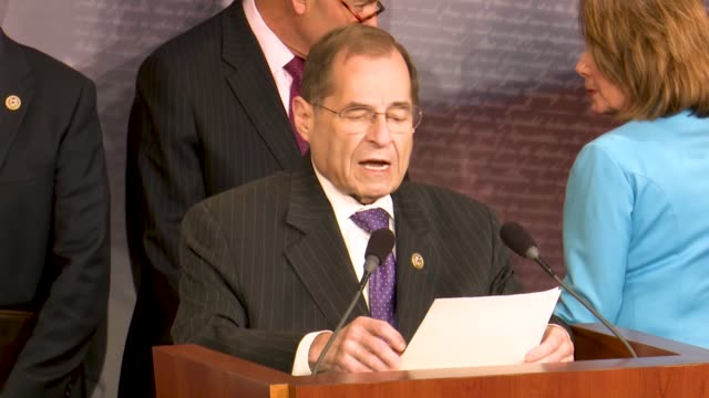 house judiciary committee ranking member jerrold nadler of new york tells reporters at a news conference hours after justice department inspector... - michael horowitz stock videos & royalty-free footage