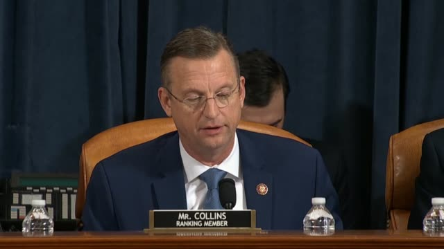 house judiciary committee ranking republican doug collins of georgia says in his opening statement at the first impeachment inquiry hearing of the... - infamous stock videos & royalty-free footage