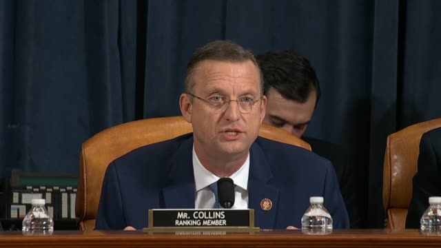 house judiciary committee ranking republican doug collins of georgia says in his opening statement at the first impeachment inquiry hearing of the... - whistleblower human role stock videos & royalty-free footage