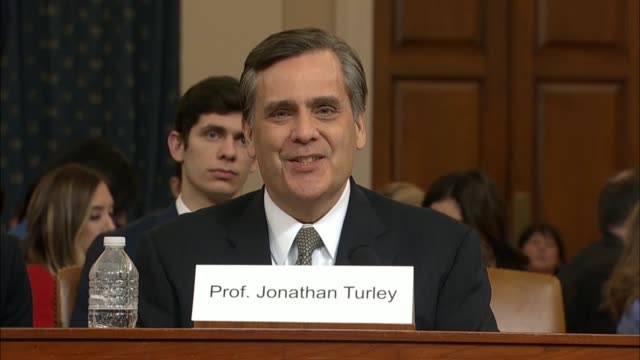 house judiciary committee republican counsel paul taylor asks george washington university school law professor jonathan turley at an impeachment... - thomas jefferson stock videos & royalty-free footage