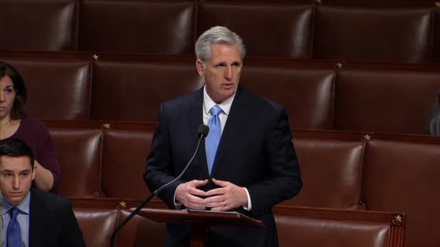 house majority leader kevin mccarthy tells minority whip steny hoyer during a floor exchange that as a former small business owner, considering bills... - crumb stock videos & royalty-free footage