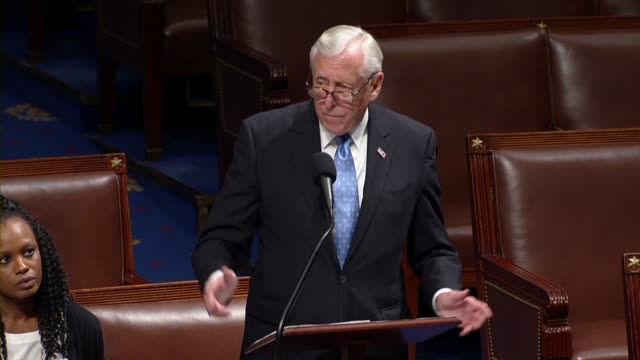 house majority leader steny hoyer of maryland says in an exchange with house minority leader steve scalise over an impeachment inquiry against... - legal defense stock videos and b-roll footage