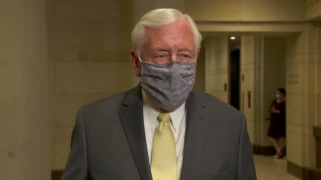 house majority leader steny hoyer tells reporters before attending a house judiciary committee hearing that jim clyburn and he were friends of john... - {{ collectponotification.cta }} stock videos & royalty-free footage