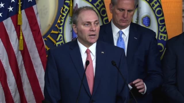 House Majority Whip Steve Scalise says at a weekly briefing that immigration reform starts with securing the border that he would begin to with by...