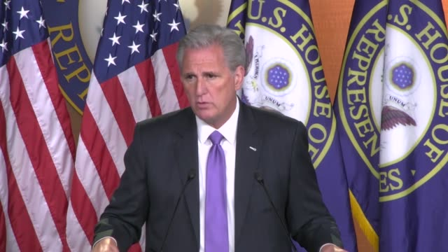 house minority leader kevin mccarthy of california tells reporters at a weekly news conference that there was anticipation for public testimony of... - testimony stock videos & royalty-free footage