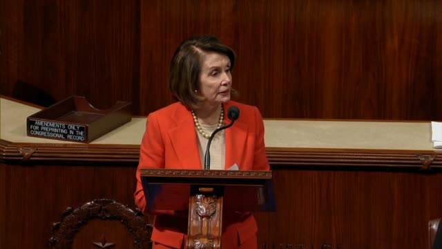 house minority leader nancy pelosi argues in debate on a fifth fiscal 2018 continuing resolution that the bill is not the more the merrier but like... - ineptitude stock videos & royalty-free footage