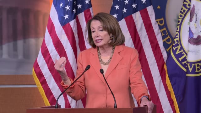 house minority leader nancy pelosi asks what do the russians have what is this sales job calling for the resignation of us attorney general jeff... - b rolle stock-videos und b-roll-filmmaterial