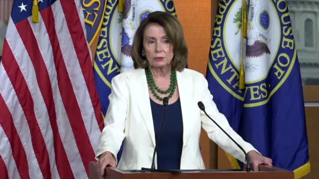 House Minority Leader Nancy Pelosi of California answers a reporter question at a weekly briefing about the special election in Pennsylvania district...