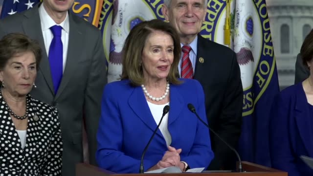 house minority leader nancy pelosi of california begins a press conference with democrats to discuss health and financial stability a crisis of... - prescription drug costs stock videos & royalty-free footage