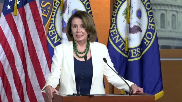 House Minority Leader Nancy Pelosi of California begins a weekly press conference to call it an interesting week with a Pennsylvania special election...