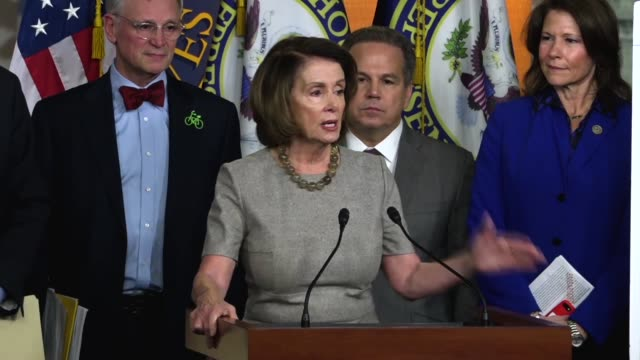House Minority Leader Nancy Pelosi of California discusses a select committee she established as Speaker that documented the testimony of generals...