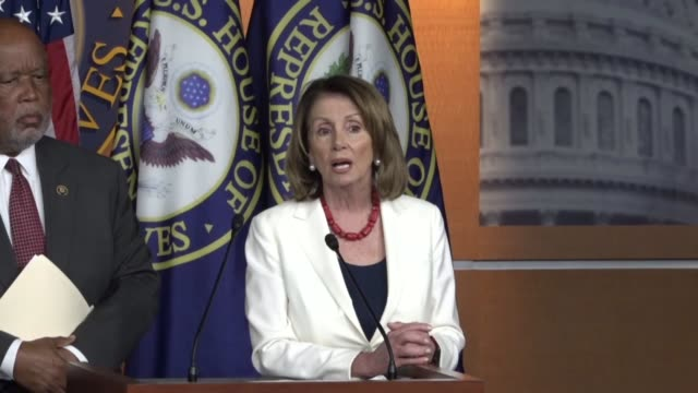 house minority leader nancy pelosi of california fields questions from reporters at a weekly briefing pelosi says president donald trump is such a... - nancy pelosi stock videos and b-roll footage