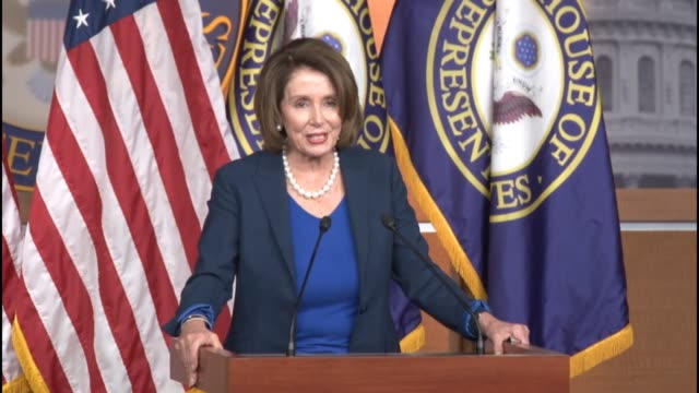 House Minority Leader Nancy Pelosi of California is asked at a weekly briefing about whether presidential candidate Hillary Clinton is a progressive...