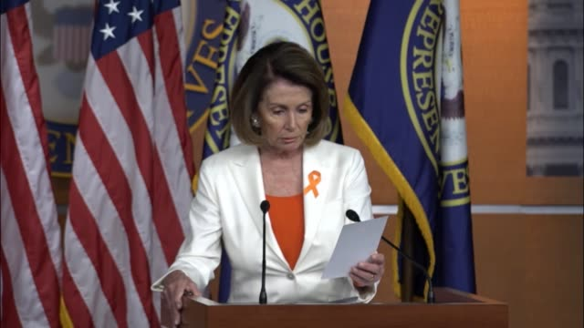 house minority leader nancy pelosi of california is questioned at a briefing the day after president donald trump pulled the united states out of the... - paris agreement stock videos & royalty-free footage