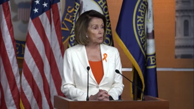 house minority leader nancy pelosi of california says it was important to hold a briefing the day after president donald trump pulled the united... - paris agreement stock videos & royalty-free footage