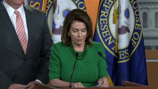 house minority leader nancy pelosi of california says that from day one of his campaign president donald trump boasted about a big pledge to take on... - nancy pelosi stock videos and b-roll footage